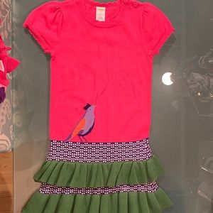 Gymboree Falling For Feathers Sz 5 Sweater Dress